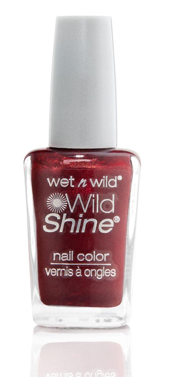 Wet n Wild Лак Для Ногтей Wild Shine Nail Color burgundy frost 13 мл ( E412A )
