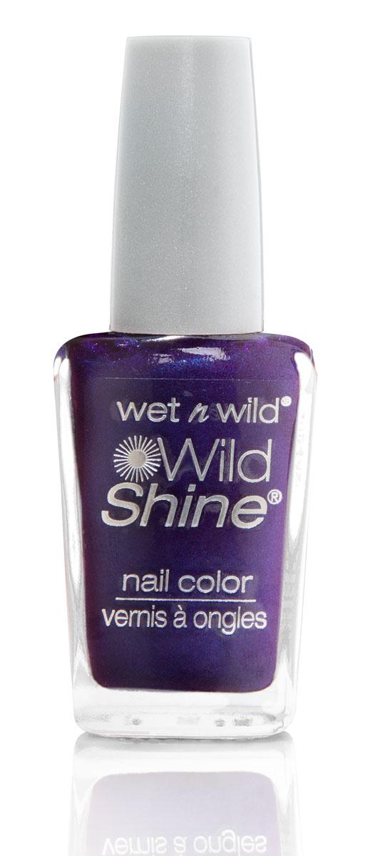 Wet n Wild Лак Для Ногтей Wild Shine Nail Color eggplant frost 13 млE417F