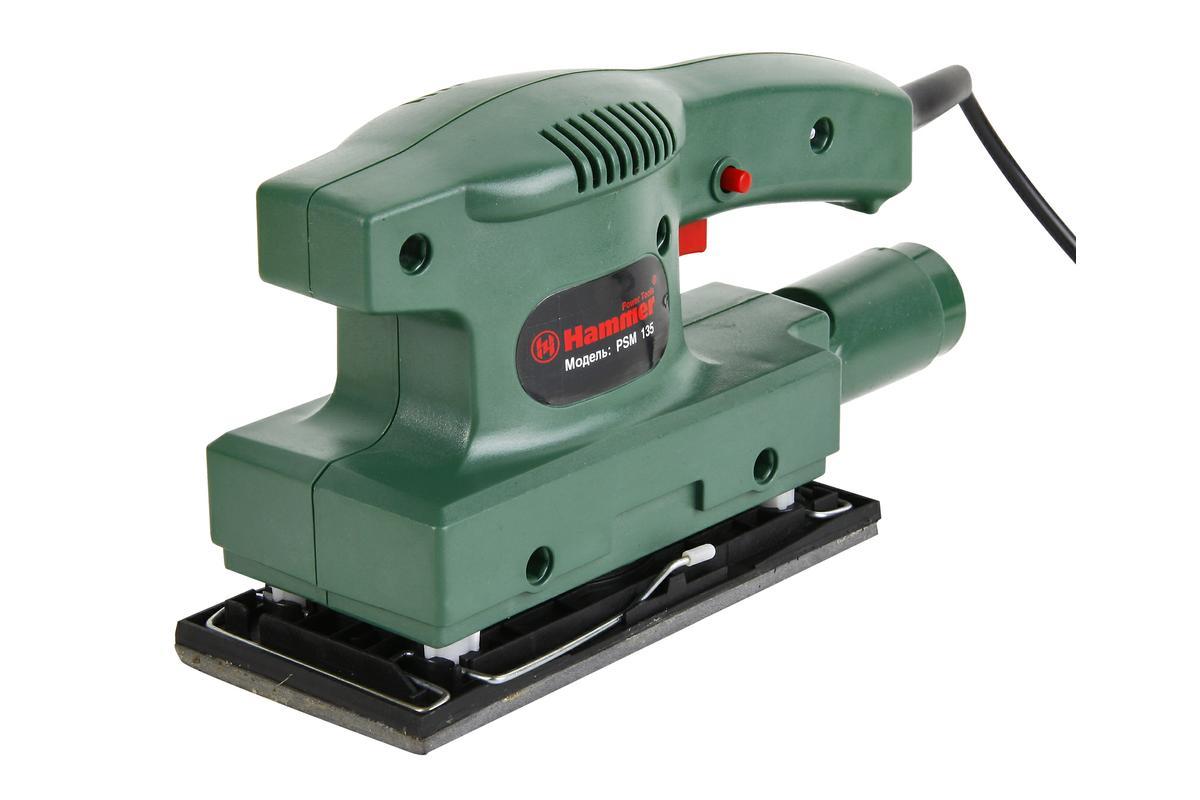 Шлиф.машинка плоская Hammer Flex PSM13513213В КОРОБКЕ Плоскошлифовальная машина PSM135 135Вт предназначена для шлифования поверхностей, очищения от устаревшего лака и краски, снятия ржавчины с металла. Плоскошлифовальная машина снабжена металлической опорной плитой и удобной системой фиксации шлифовальных листов, что дает ей неоспоримые преимущества. Пылеудаление от эксплуатации ПШМ происходит либо в специальный мешок, либо с помощью строительного пылесоса. ПШМ оснащена двухкомпонентной рукояткой, что повышает производительность труда. +Адаптер для подключения пылесоса +Клавиша фиксации выключателя +Шлифовальный лист. Комплектация: Шлиф.машина - 1 шт. Шлифлист - 1 шт. Адаптер для подключения пылесоса - 1 шт. Инструкция - 1 шт. Упаковка - 1 шт.