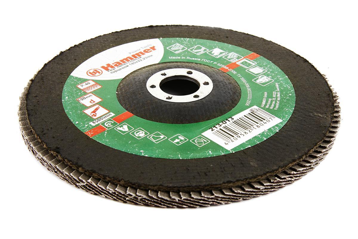 Круг лепестковый торцевой КЛТ Hammer Flex 213-013 180 Х 22 Р 40 тип 2 колье lalo treasures цвет мульти p4467 2