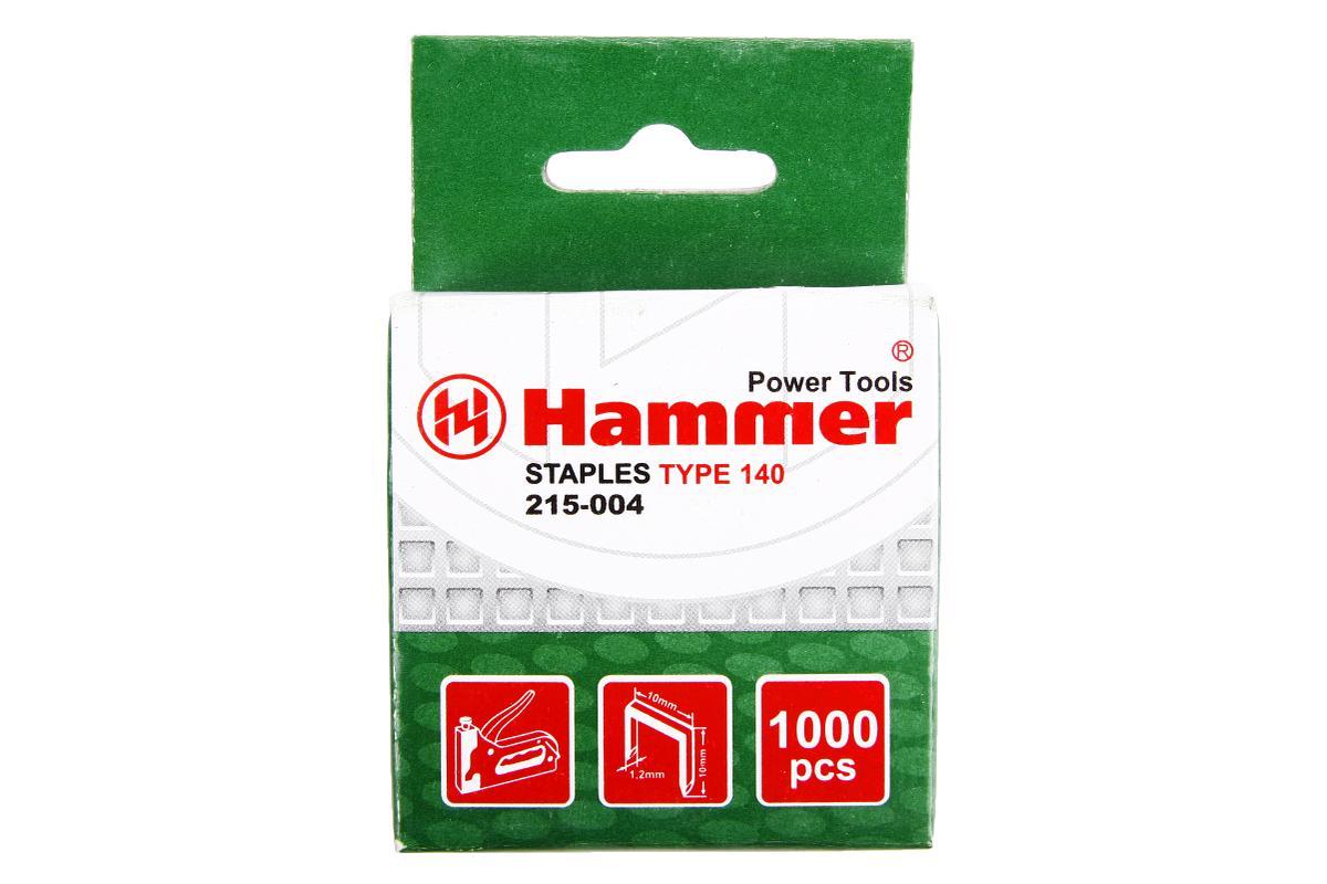 Скобы для степлера Hammer Flex 215-004 10 мм, 10мм, 1,2мм П-образные (тип 140), 1000шт33998Скобы Hammerflex предназначены для использования с ручным степлером Hammerflex. Выполнены из высококачественной стали. Имеют П-образную форму. В комплекте 1000 скоб. Тип скоб: 140. Высота скоб: 10 мм. Ширина скоб: 11,3 мм. Толщина скоб: 1,2 мм.