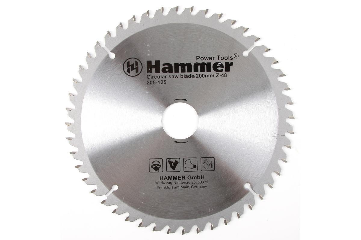 Диск пильный Hammer Flex 205-125 CSB WD 200мм*48*32/30мм по дереву