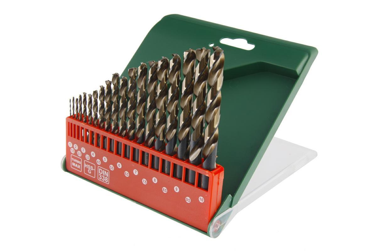 Набор сверел Hammer Flex 202-917 DR set No17 (19pcs) 1,0-10mm металл, 19шт.62403Сверла Hammerflex изготовлены из высококачественной быстрорежущей инструментальной стали. Данный тип стали применяют для производства сверл для обработки деталей из труднообрабатываемых коррозийно-стойких и жаропрочных сталей и сплавов в условиях прерывистого резания, вибраций и недостаточного охлаждения. Стандарт сверл по металлу DIN338. В набор входят сверла промежуточных размеров для работы со стандартными тяговыми заклепками. Угол заточки 135° обеспечивает высокую скорость и центровку, что позволяет быстро начать процесс сверления. Шлифовка сверла обеспечивает высокое качество обработки стенок отверстий и оптимальное выведение шлама. Сверла оснащены круглым хвостовиком. В набор входят сверла диаметром: 1 мм, 1,5 мм, 2 мм, 2,5 мм, 3 мм, 3,5 мм, 4 мм, 5 мм, 5,5 мм, 6 мм, 6,5 мм, 7 мм, 7,5 мм, 8 мм, 8,5 мм, 9 мм, 9,5 мм, 10 мм.