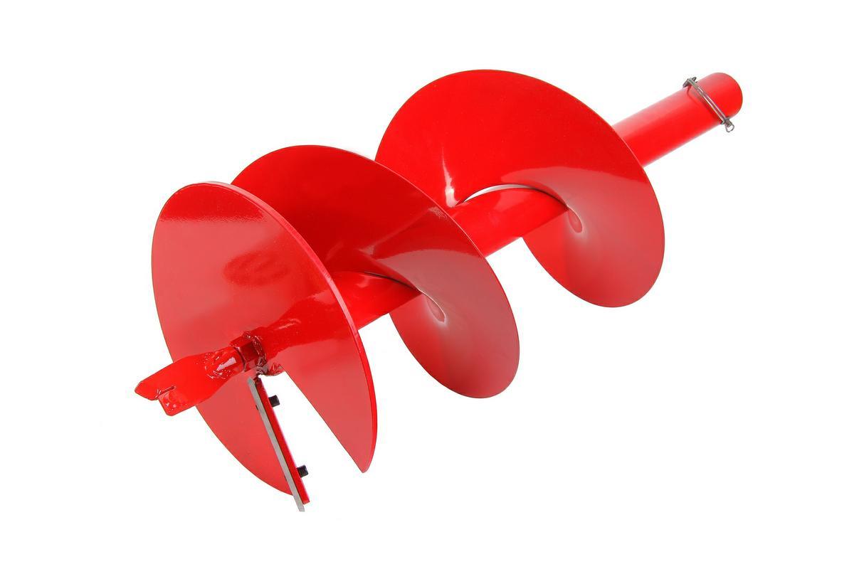 Шнек для грунта Hammer Flex 210-014 12(300мм)X 800мм, к мотобуру с валом 168298Шнек для грунта Hammerflex совместим со всеми мотобурами с диаметром хвостовика 1 (2,5 см). Высококачественная листовая сталь и точечный сварочный шов в местах, испытывающих максимальные нагрузки в процессе бурения, придают шнеку повышенную механическую прочность. Процесс предварительного фосфатирования и износостойкое лакокрасочное покрытие обеспечивают длительную защиту от коррозии. Угол атаки шнека позволяет справиться с бурением большинства видов грунта, идеально подойдет для плотной глинистой и суглинистой почвы. Сменные режущие пластины из нержавеющей стали 4Сr13 и наконечники из легированной стали №35 отличаются высокой износостойкостью, эффективно противостоят механическим повреждениям, а также обладают необходимым запасом гибкости, что позволяет им не разрушаться при резком столкновении с твердым предметом (камнем).