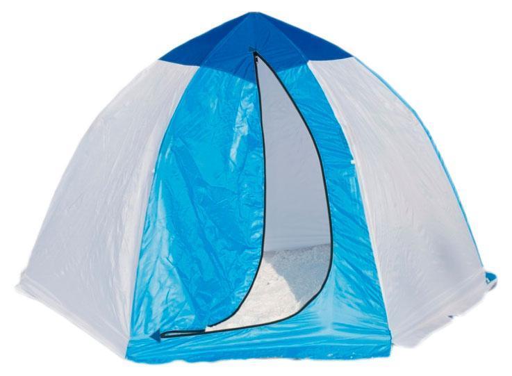 СТЭК Палатка рыбака 3-м п/автомат н/тк, Стэк, белый, зеленый