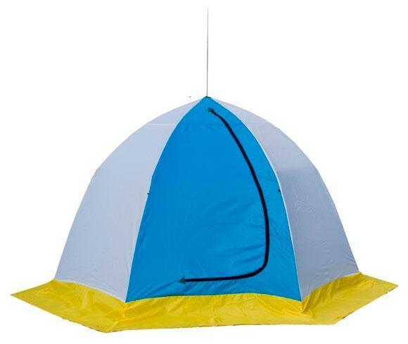 Палатка рыбака ELITE 4-м п/автомат н/тк, Стэк, белый/голубой