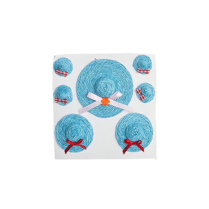 Декоративное украшение - Набор шляпок для яйца, 7,4*2;4,7*2;2,4*1, 7 шт, голубая66856_4Декоративное украшение - Набор шляпок для яйца, 7,4*2;4,7*2;2,4*1, 7 шт, голубая