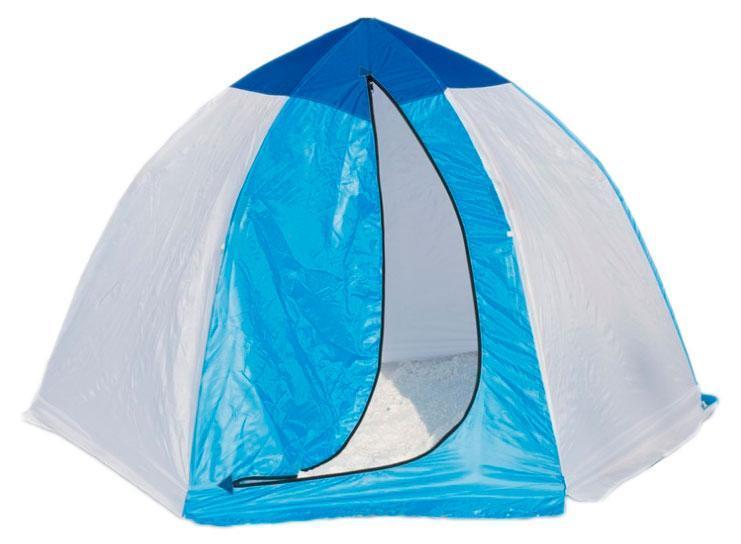 Палатка рыбака 2-м п/автомат брезент, Стэк, желтый, белый, голубой