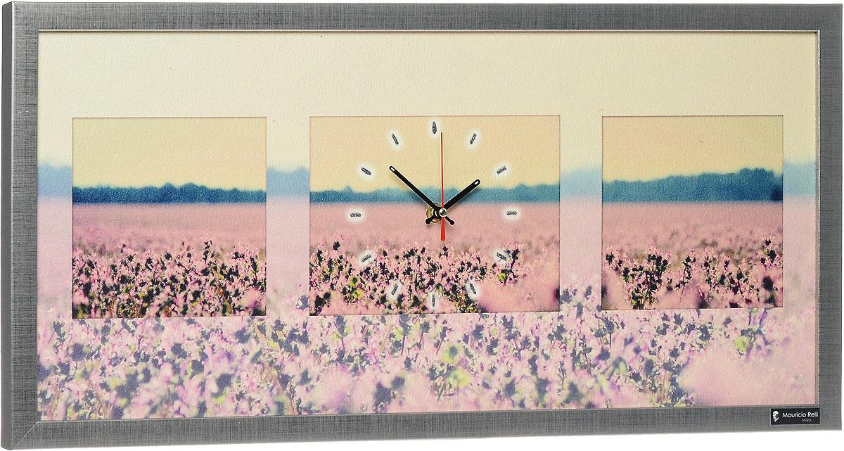 Настенные часы из песка Mauricio Relli Liberta РМ-061, размер 63х30PM-061Настенные кварцевые часы Liberta РМ-061, выполненные профессиональными художниками, своим эксклюзивным дизайном подчеркнут оригинальность интерьера вашего дома. Часы прямоугольной формы оформлены фактурным изображением цветочного поля. Рисунок выполнен из песка вручную. Благодаря материалу исполнения, изображение получается объемным и реалистичным. Часы обрамлены рамой. Часы имеют три стрелки - часовую, минутную и секундную. На обратной стороне расположена металлическая петелька для подвешивания. Часы Liberta РМ-061 будут интересно смотреться как в офисе, так и в гостиной, а необычный дизайн привнесет индивидуальность в любой интерьер. Такие часы послужат отличным подарком для ценителя практичных и оригинальных вещей. Рекомендуется докупить 1 батарейку 1,5V типа АА (в комплект не входит).