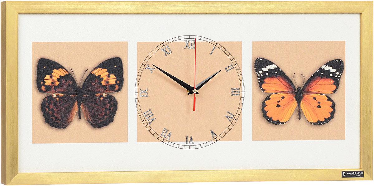Настенные часы из песка Mauricio Relli Farfalle nel cielo РМ-051, размер 63х30РМ-051Настенные кварцевые часы Farfalle nel cielo РМ-051, выполненные профессиональными художниками, своим эксклюзивным дизайном подчеркнут оригинальность интерьера вашего дома. Часы прямоугольной формы оформлены фактурным изображением бабочек. Рисунок выполнен из песка вручную. Благодаря материалу исполнения, изображение получается объемным и реалистичным. Часы обрамлены рамой. Часы имеют три стрелки - часовую, минутную и секундную. На обратной стороне расположена металлическая петелька для подвешивания. Часы Farfalle nel cielo РМ-051 будут интересно смотреться как в офисе, так и в гостиной, а необычный дизайн привнесет индивидуальность в любой интерьер. Такие часы послужат отличным подарком для ценителя практичных и оригинальных вещей. Рекомендуется докупить 1 батарейку 1,5V типа АА (в комплект не входит).