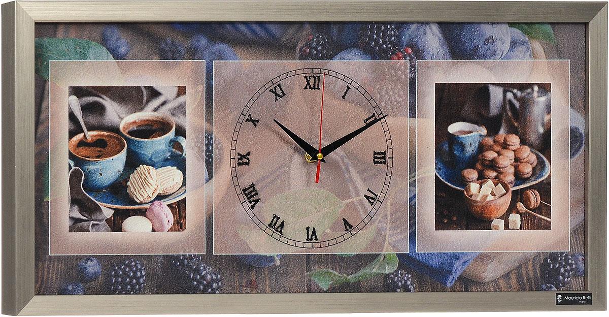 Настенные часы из песка Mauricio Relli Casa del villaggio РМ-055, размер 63х30PM-055Настенные кварцевые часы Casa del villaggio РМ-055, выполненные профессиональными художниками, своим эксклюзивным дизайном подчеркнут оригинальность интерьера вашего дома. Часы прямоугольной формы оформлены фактурным изображением аппетитных завтраков. Рисунок выполнен из песка вручную. Благодаря материалу исполнения, изображение получается объемным и реалистичным. Часы обрамлены рамой. Часы имеют три стрелки - часовую, минутную и секундную. На обратной стороне расположена металлическая петелька для подвешивания. Часы Casa del villaggio РМ-055 будут интересно смотреться как в офисе, так и в гостиной, а необычный дизайн привнесет индивидуальность в любой интерьер. Такие часы послужат отличным подарком для ценителя практичных и оригинальных вещей. Рекомендуется докупить 1 батарейку 1,5V типа АА (в комплект не входит).