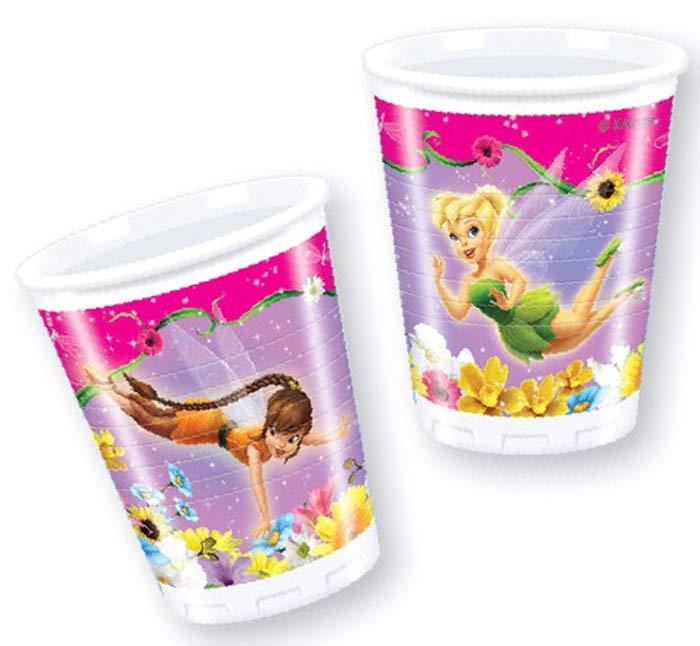 Procos Сервировка детского праздничного стола Стаканы пластиковые Долина Фей 200мл 10 шт