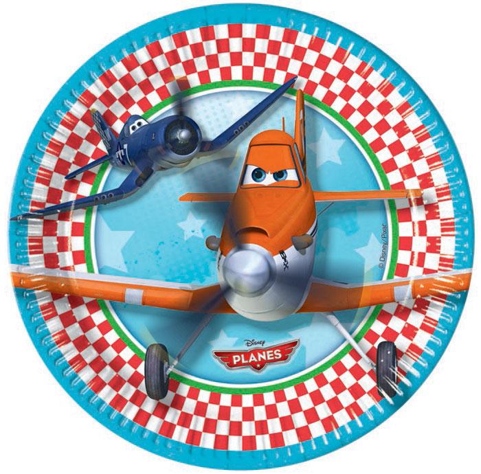 Procos Сервировка детского праздничного стола Тарелки Самолеты 20 см, 8 шт81865Еда и сладости на детском празднике покажутся еще вкуснее в тарелках с любимыми персонажами из мультфильма «Самолеты». Особенно радостно будет детям, которые мечтают летать на самолетах, хотят стать пилотами или просто любят всевозможную технику. В поставку входят 20 одноразовых тарелок диаметром 20 см с изображением персонажей мультфильма «Самолеты» («Planes») от Disney. Рекомендуется приобретать в комплекте со стаканами, салфетками и другой одноразовой посудой от Procos. Procos — лучший греческий производитель продукции для праздников и вечеринок. Тарелки сделаны из качественных и долговечных материалов.