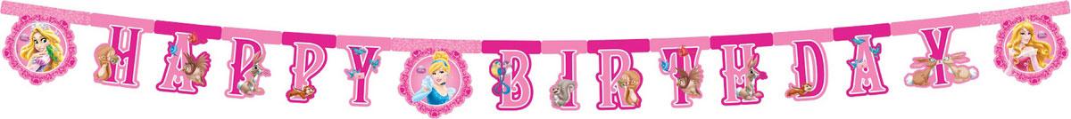 Procos Гирлянда-буквы Happy Birthday Принцессы и животные82652Что может быть прекраснее для маленькой принцессы, чем праздник, оформленный в стиле любимых героинь Диснея? Гирлянда-буквы Procos Happy Birthday. Принцессы и животные украсит комнату именинницы и подарит заряд настроения не только вашему ребенку, но и всем присутствующим гостям на мероприятии. Гирлянда - это часть веселого настроения и ощущение праздника. Гирлянда изготовлена из прочного долговечного картона с нанесением на него нетоксичных красок. Она состоит из нескольких частей, вместе составляющих надпись Happy Birthday, которая очень легко и просто развешивается над потолком, создавая атмосферу волшебного праздника. Элементы гирлянды скрепляются друг с другом с помощью подвижных металлических соединений. Крайние карточки имеют ниточные петли для удобства крепления гирлянды. Такая гирлянда украсит ваш праздник и подарит имениннице отличное настроение.