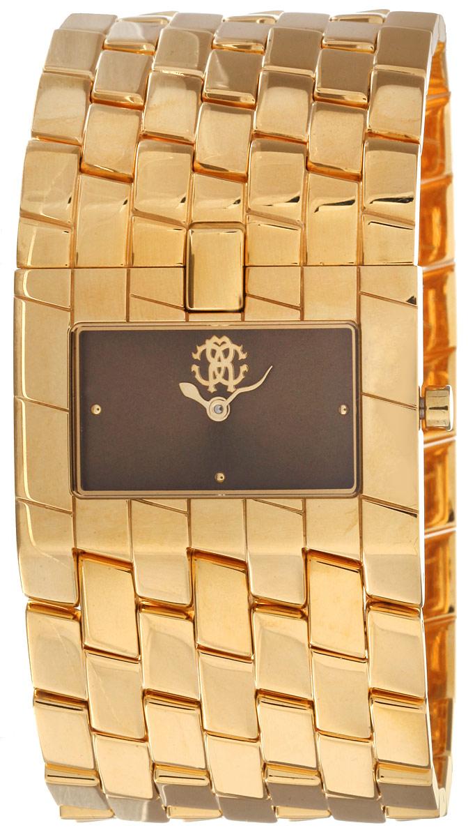 Часы женские наручные Roberto Cavalli, цвет: золотой, коричневый. 7253 182 5257253182525Элегантные женские часы Roberto Cavalli выполнены из высоколегированной стали и минерального стекла. Изделие дополнено символикой бренда. Корпус часов выполнен из нержавеющей стали имеет степень влагозащиты равную 3 atm. Браслет изделия дополнен практичным замком-защелкой, который позволит моментально снимать и одевать часы без лишних усилий. Изделие поставляется в фирменной упаковке. Часы Roberto Cavalli подчеркнут изящность женской руки и отменное чувство стиля у их обладательницы.