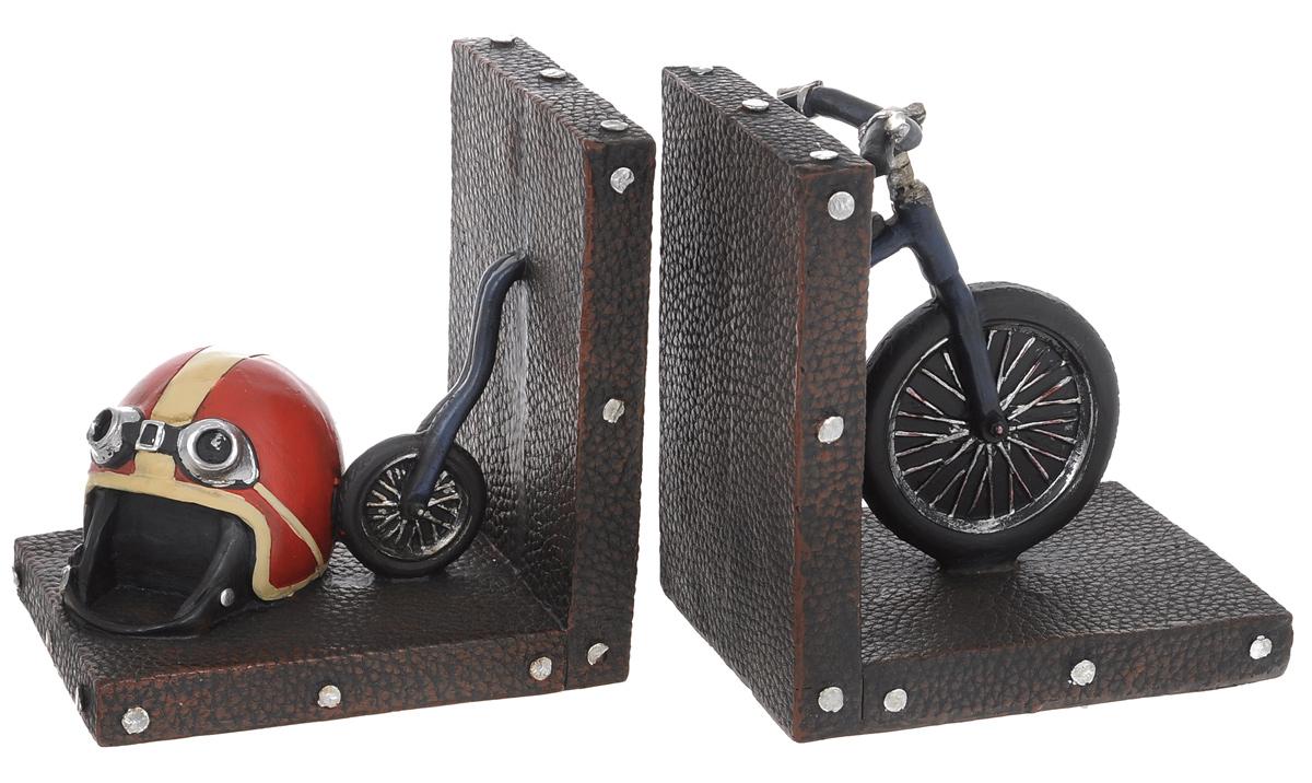 Набор держателей для книг Miolla Ретро велосипед, 2 штC2512109Набор держателей для книг Miolla Ретро велосипед, выполненный из полирезина, станет отличным подарком и необычным украшением интерьера. Оригинальный дизайн выделяет эти держатели из множества других. Расположив такой необычный предмет на своем рабочем столе или на полке с книгами, обладатель данного аксессуара непременно подчеркнет свое стремление оставаться модным и стильным в каждой детали. Сочетание оригинального дизайна и хорошего качества позволит представить такой подарок в самом выигрышном свете. Размеры одной части: 12,5 см х 9,5 см х 13,5 см.