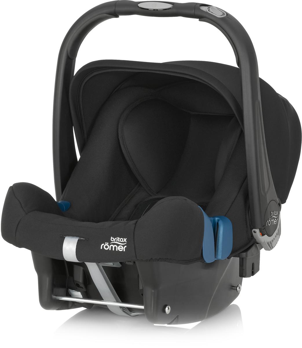 Romer Автокресло Baby-Safe Plus SHR II Cosmos Black до 13 кг2000023256Автокресло Romer Baby-Safe Plus SHR II группы 0+ предназначено для детей весом до 13 кг (от рождения до года). Мягкая, уютная обивка кресла из энергопоглощающих материалов, глубокие боковины, и дополнительная вставка для новорожденных создают уютное и безопасное место для ребенка с самого рождения. Пятиточечные ремни безопасности с централизованной системой натяжения и мягкими, энергопоглощающими плечевыми накладками, регулируются по высоте с помощью подголовника и надежно удерживают ребенка внутри автокресла. Встроенная система автоматического выравнивания действует при регулировке подголовника. Чем выше подголовник - тем просторней становится автокресло. Внутренние ремни безопасности также поднимаются автоматически, избавляя от ошибок самостоятельной регулировки. Travel System - система путешествий для активных родителей! Для приятной прогулки нужно поставить автокресло на раму коляски, обладающей механизмом CLICK & GO и мобильная коляска готова. Отсоединить...