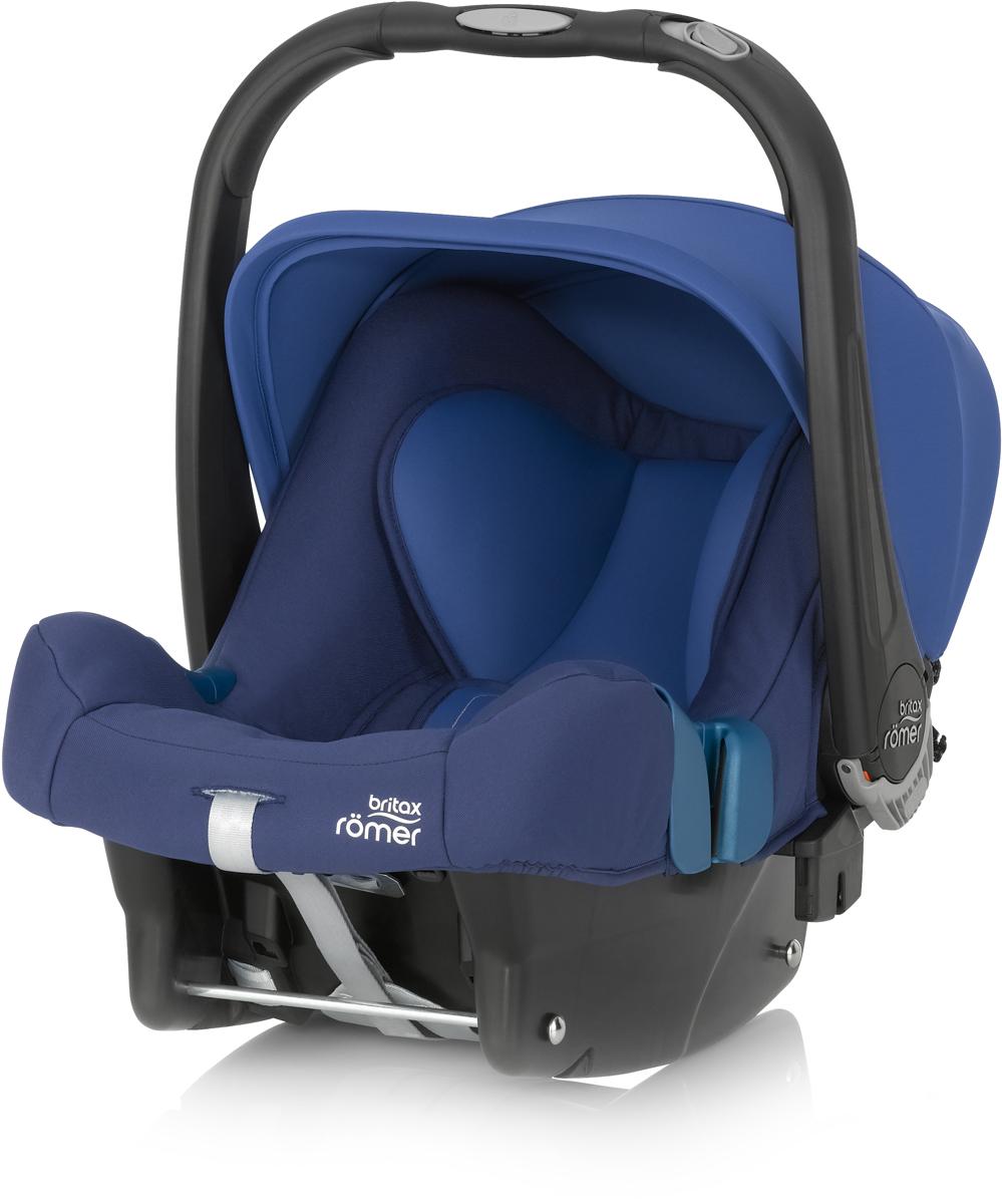 Romer Автокресло Baby-Safe Plus SHR II Ocean Blue до 13 кг2000023260Автокресло Romer Baby-Safe Plus SHR II группы 0+ предназначено для детей весом до 13 кг (от рождения до года). Мягкая, уютная обивка кресла из энергопоглощающих материалов, глубокие боковины, и дополнительная вставка для новорожденных создают уютное и безопасное место для ребенка с самого рождения. Пятиточечные ремни безопасности с централизованной системой натяжения и мягкими, энергопоглощающими плечевыми накладками, регулируются по высоте с помощью подголовника и надежно удерживают ребенка внутри автокресла. Встроенная система автоматического выравнивания действует при регулировке подголовника. Чем выше подголовник - тем просторней становится автокресло. Внутренние ремни безопасности также поднимаются автоматически, избавляя от ошибок самостоятельной регулировки. Travel System - система путешествий для активных родителей! Для приятной прогулки нужно поставить автокресло на раму коляски, обладающей механизмом CLICK & GO и мобильная коляска готова. Отсоединить...