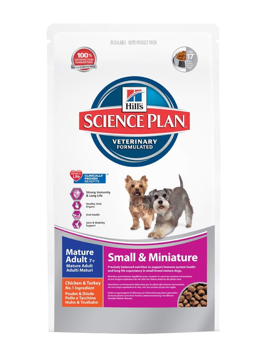 Корм сухой Hills для пожилых собак мелких и миниатюрных пород, с курицей и индейкой, 1,5 кг2826Корм сухой Hills предназначен для пожилых собак мелких и миниатюрных пород. Разработан для поддержания сильного иммунитета, здоровья жизненно важных органов и полости рта. Содержит комплекс антиоксидантов с клинически подтвержденным эффектом, витамины и минералы. Ключевые преимущества: Комплекс антиоксидантов с клинически подтвержденным эффектом для сильного иммунитета и долголетия. Уникальная формула с контролируемым содержанием минералов для поддержания здоровья жизненно важных органов. Хрустящие гранулы, разработанные с антиоксидантами для поддержания здоровья полости рта. L-карнитин и протеины высокого качества для сильной мускулатуры и активной подвижности. Состав: высушенное мясо курицы и индейки (курицы 20%, общего содержания мяса домашней птицы 30%), кукуруза, бурый рис, размолотый рис, пшеница, ячмень, животный жир, гидролизат белка, высушенная мякоть свеклы, льняное семя, растительное масло, минералы, выжимка томата, порошок...