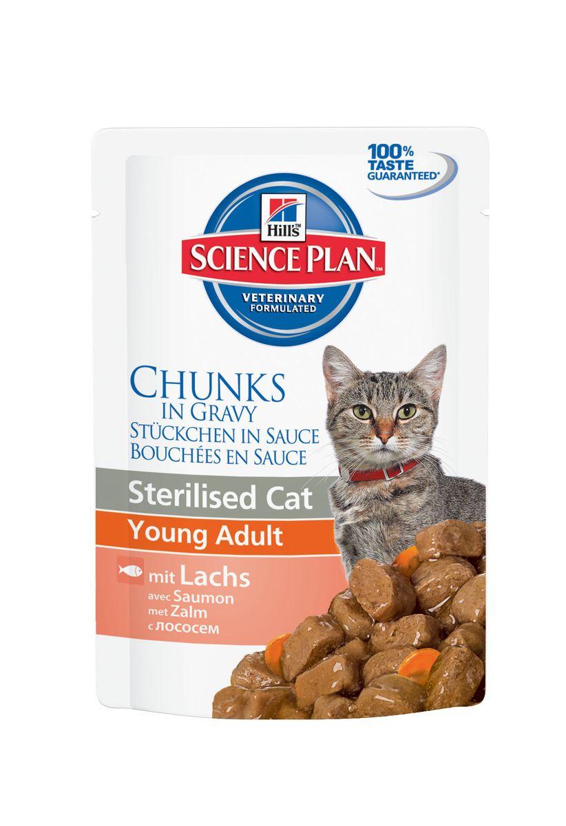 Консервы Hills Sterilised Cat Young Adult для стерилизованных кошек до 6 лет, с лососем, 85 г1942Стерилизованные кошки в три раза более склонны к набору лишнего веса и образованию камней в мочевом пузыре. Консервы Hills Sterilised Cat Young Adult способствует гармоничному развитию и удовлетворяет специфические потребности стерилизованных кошек. Содержит комплекс антиоксидантов с клинически подтвержденным эффектом и уникальную формулу контроля веса. Ключевые преимущества: Уникальная формула контроля веса способствует сжиганию жира и укреплению мышц Контролируемые уровни минералов для поддержания здоровья мочевыводящих путей Легко усваиваемые ингредиенты для оптимального всасывания Ингредиенты высокого качества. 100% гарантии качества, консистенции и вкуса. Состав: мясо и пептиды животного происхождения, зерновые злаки, рыба и рыбные производные, экстракты растительного белка, производные растительного происхождения, различные виды сахаров, минералы, овощи, яйцо и его производные, масла и жиры. Анализ: белок 7,9%,...