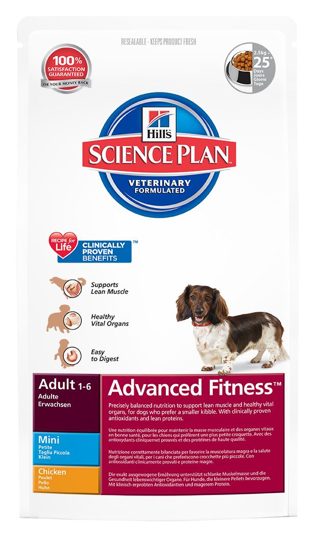 Корм сухой Hills Advanced Fitness для взрослых собак мелких пород, с курицей, 800 г3270Корм сухой Hills предназначен для взрослых собак мелких пород в возрасте от 1 года до 6 лет. Разработан для поддержания мускулатуры и здоровья жизненно важных органов у собак, предпочитающих мелкие гранулы. С антиоксидантами с клинически подтвержденным эффектом, протеином для мускулатуры и Омега-3 жирными кислотами. Ключевые преимущества: Высоко перевариваемый протеин для крепкой мускулатуры. Поддерживает здоровье внутренних органов благодаря оптимальному балансу фосфора и натрия. Высоко перевариваемые ингредиенты. Великолепный вкус. Состав: курица (минимум 20% курицы, 30% общего содержания мяса домашней птицы), молотая кукуруза, мука из мяса домашней птицы, соевая мука, животный жир, мука из маисового глютена, гидролизат белка, растительное масло, соль, семя льна, калия цитрат, L-лизина гидрохлорид, кальция карбонат, таурин, L-триптофан, витамины и микроэлементы. Содержит натуральные консерванты - смесь токоферолов, лимонную кислоту и...
