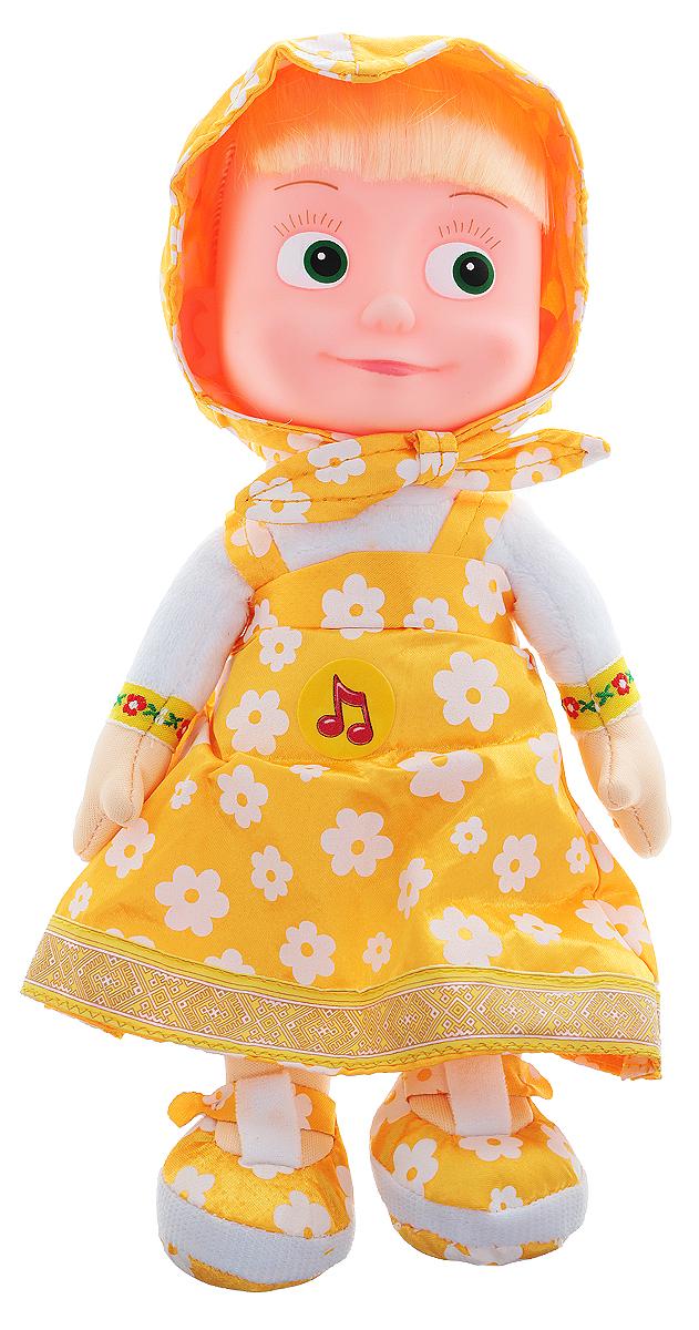 Мульти-Пульти Кукла мягкая озвученная Маша цвет платья оранжевыйV86121/30A_оранжевыйМягкая озвученная кукла Маша вызовет улыбку у каждого, кто ее увидит! Она выполнена в виде всем известного мультипликационного персонажа девочки Маши. Туловище, ручки и ножки игрушки - мягконабивные, а голова изготовлена из пластика. Маша одета в яркий оранжевый сарафанчик и такого же цвета косынку. У нее длинные светлые волосы, заплетенные в косу. Если нажать игрушке на животик, то Маша будет произносить разные фразы своего героя из мультфильма, или заиграет веселая песенка. Игрушка подарит своему обладателю хорошее настроение и позволит насладиться обществом любимого героя. Рекомендуется докупить 3 батарейки напряжением 1,5V типа LR44 (товар комплектуется демонстрационными).
