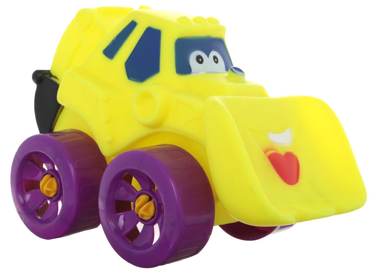 Erpa Бульдозер Tombis цвет желтый фиолетовый660931_желтый, фиолетовыйЯркая машинка-бульдозер Erpa Tombis понравится вашему малышу. Машинка выполнена из высококачественного мягкого пластика. Большие колеса со свободным ходом обеспечивают хорошую проходимость. Такая игрушка способствует развитию у малыша тактильных ощущений, мелкой моторики рук и координации движений.