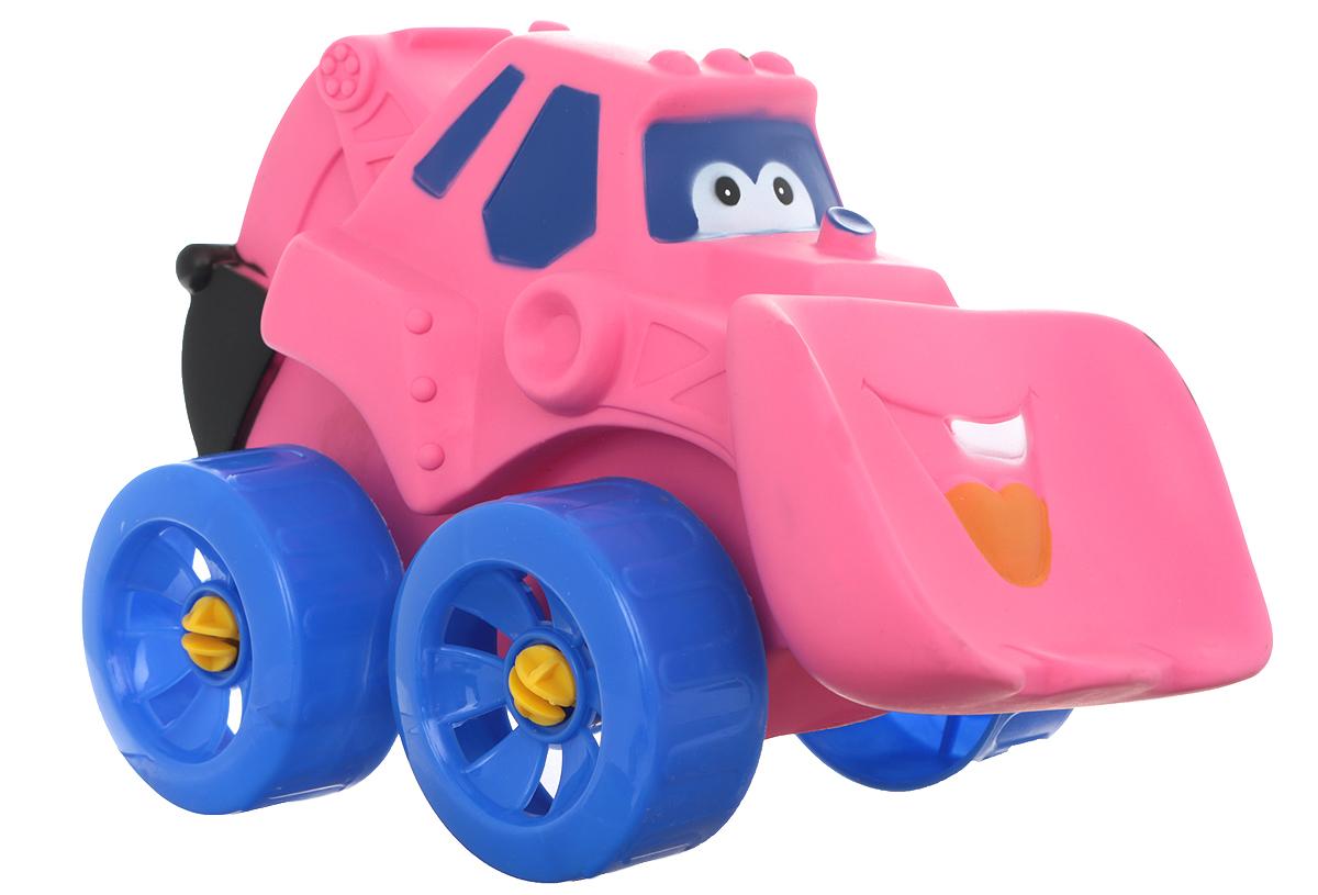Erpa Бульдозер Tombis цвет розовый синий660931_розовый,синийЯркая машинка-бульдозер Erpa Tombis понравится вашему малышу. Машинка выполнена из высококачественного мягкого пластика. Большие колеса со свободным ходом обеспечивают хорошую проходимость. Такая игрушка способствует развитию у малыша тактильных ощущений, мелкой моторики рук и координации движений.
