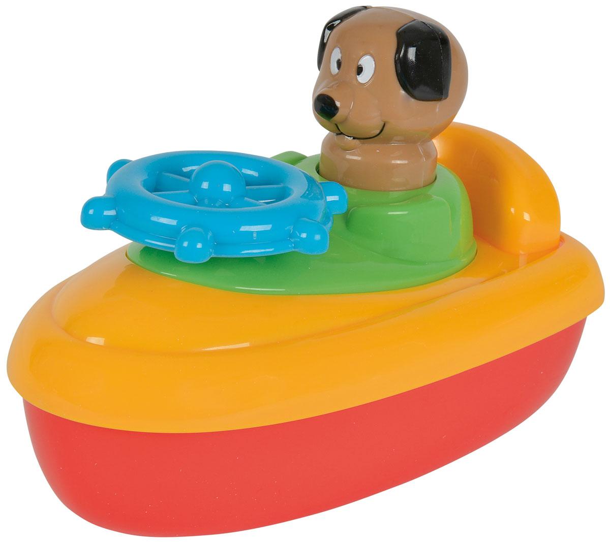 Simba Игрушка для ванны Лодка с собачкой4017Лодка с фигуркой, 2 вида. Для игры в ванне В руль встроена трещетка Для детей от 3 месяцев.