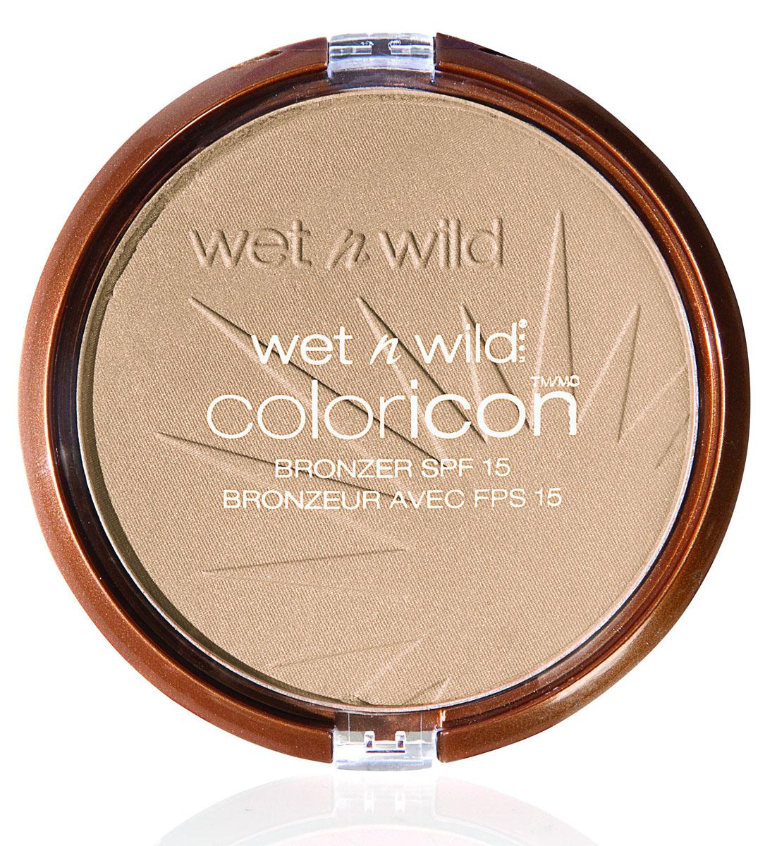 Wet n Wild Компактная Пудра Для Лица Бронзатор Color Icon Bronzer reserve your cabana 13 грE7431Компактная пудра с эффектом натурального загара. Нежная текстура пудры обеспечивает легкое и быстрое нанесение, равномерное распределение на коже и потрясающий натуральный эффект. Используется для создания эффекта натурального загара на коже лица и области декольте. Прикосновение шелковистой текстуры пудры к лицу сравнимо с нежным поцелуем солнца: легко и невесомо она ложится на кожу, создавая идеально равномерный тон. Солнечный фильтр SPF* 15 защищает от солнечных лучей и прочих агрессивных факторов. Продукт прошел дерматологический контроль.