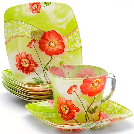 24124 Чайный набор стекло 12пр (200мл) LR (х8)24124Чайный сервиз (12 предметов) 12 предметов: - чашка (6 шт) - болюдце (6 шт) Материал: стекло Размер упаковки: Объем: 200 мл Вес: 2,1 кг Чайный набор, выполненный из высококачественного прочного стекла, состоит из шести чашек и шести блюдец. Изделия декорированы изящным изображением цветов. Элегантный дизайн и совершенные формы предметов набора привлекут к себе внимание и украсят интерьер вашей кухни. Набор идеально подойдет для сервировки стола и станет отличным подарком к любому празднику. Подходит как для горячих, так и для холодных напитков.