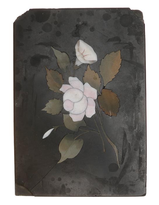 Флорентийская мозаика. Камень, инкрустация различными породами камня. Флоренция, середина XIX века