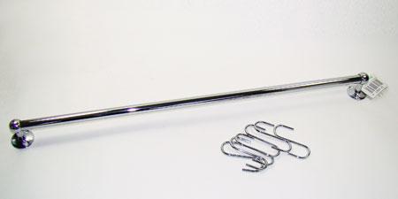 3421 Рейлинг с 6-ю крючками мет. SK 100см(х48)3421Рейлинг с 6 крючками материал: хромированное железо длина 100см