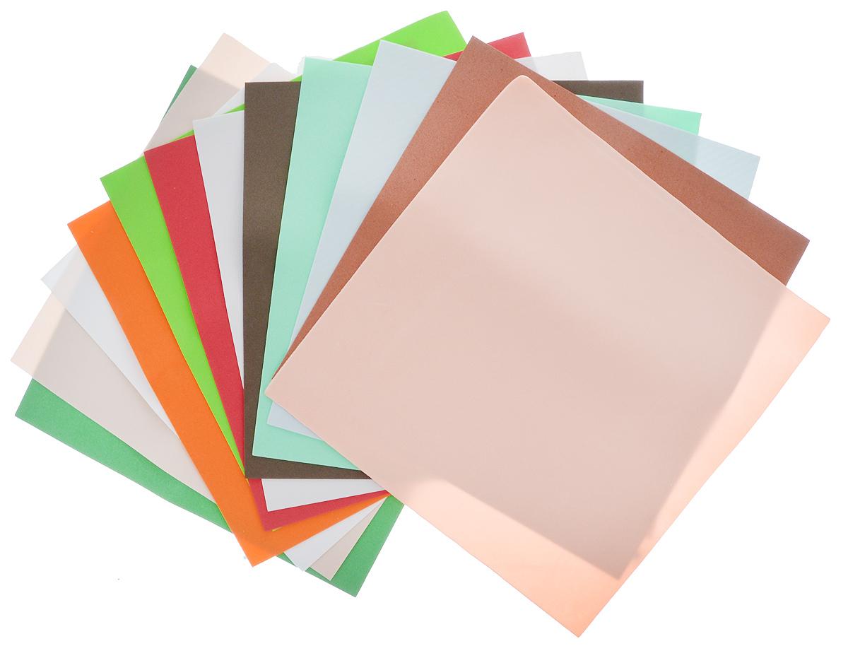 Набор фоамирана АртНева, 25 см х 25 см, 12 шт693578Набор фоамирана АртНева состоит из 12 листов разных цветов, изготовленных из полимерного материала, легкого и приятного на ощупь. Листы предназначены для создания цветов и композиций, кукол, украшения упаковок, магнитов, поделок, аппликаций и многого другого. С успехом используются для различных видов рукоделия, создания разнообразного объемного декора. Главная особенность состоит в том, что материал под воздействием тепла рук способен к небольшому растяжению для изменения формы и придания фактурности. Размер листа: 25 см х 25 см.