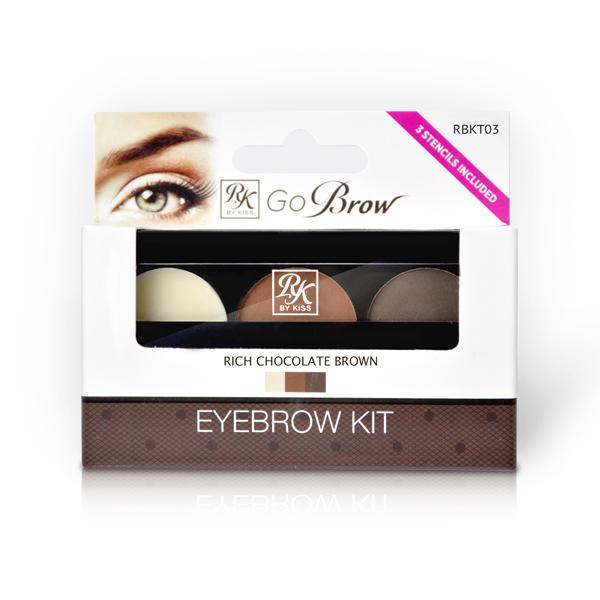 Kiss Набор для моделирования бровей Go Brow Rich Chocolate Brown Brow Kit Go Brow RBKT03
