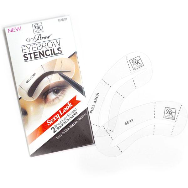 Kiss Набор трафаретов для бровей Sexy Look Eyebrow Stencils Go Brow RBS01