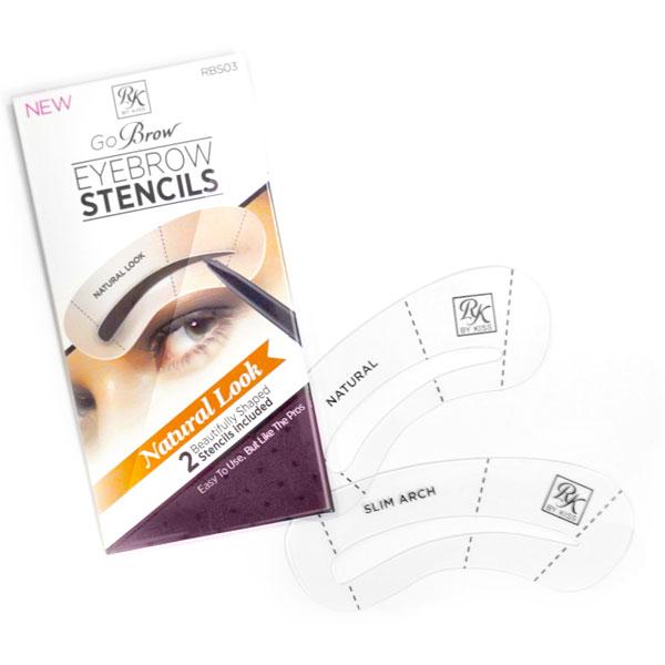 Kiss Набор трафаретов для бровей Natural Look Eyebrow Stencils Go Brow RBS03