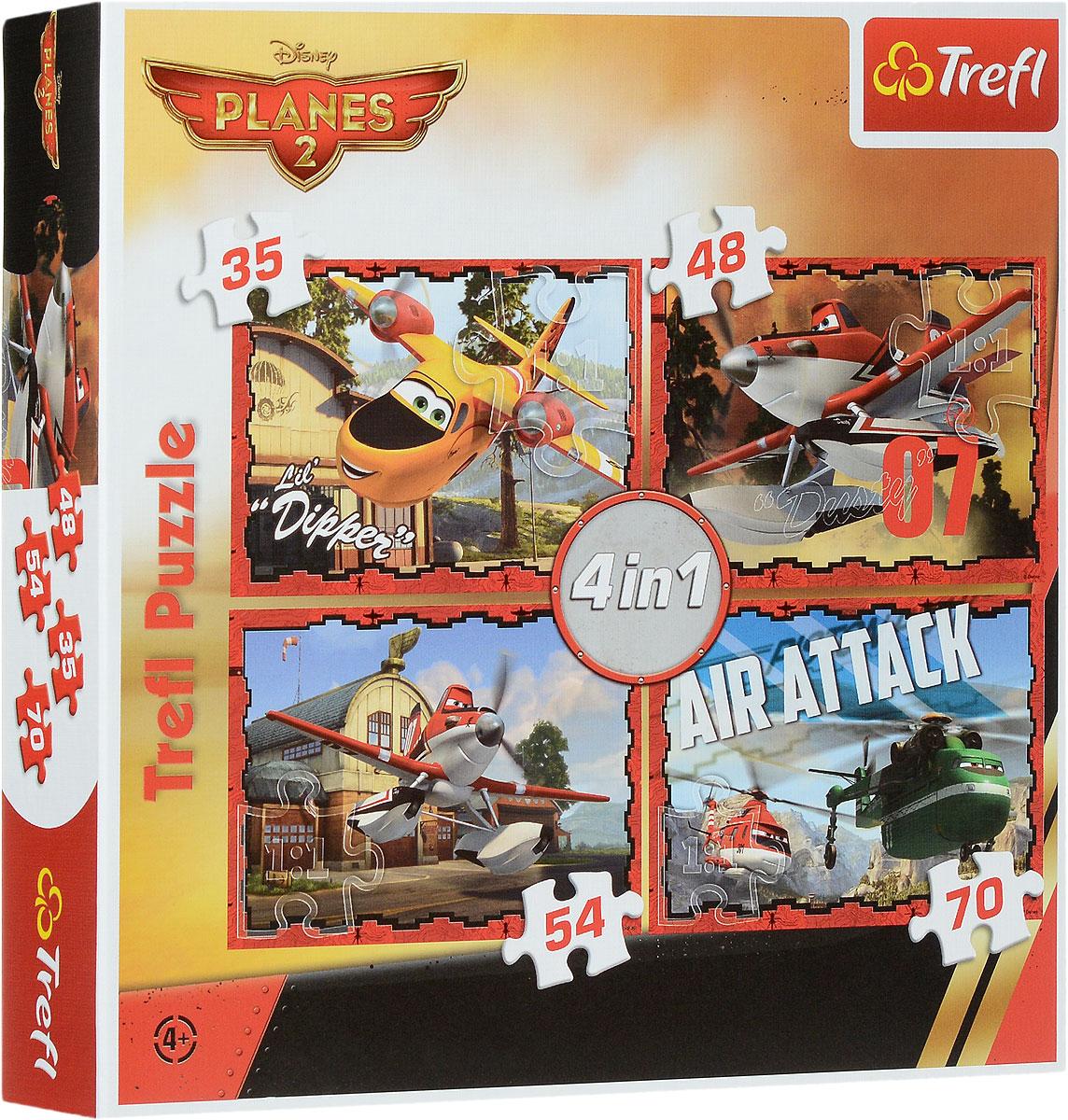 Trefl Пазл Самолеты 2 в деле 4 в 134230Пазл Trefl Самолеты 2 в деле подарит радость не только поклонникам знаменитого мультфильма, но и любителям головоломок. В комплект входят четыре пазла, состоящих из 35, 48, 54 и 70 деталей. Ребенок сможет начать с самой легкой головоломки, постепенно увеличивая сложность. Пазлы помогут малышу развить мышление, внимание и моторику рук. При этом он получит четыре картины с полюбившимися героями, которыми сможет украсить свою комнату. Пазлы выполнены из высококачественного картона, устойчивого к влаге. Польская компания Trefl занимается производством пазлов с 1985 года. За время своего существования бренд получил мировую известность и стал популярным в более чем 50 странах. Размер готового пазла: 28,5 см х 20,5 см.