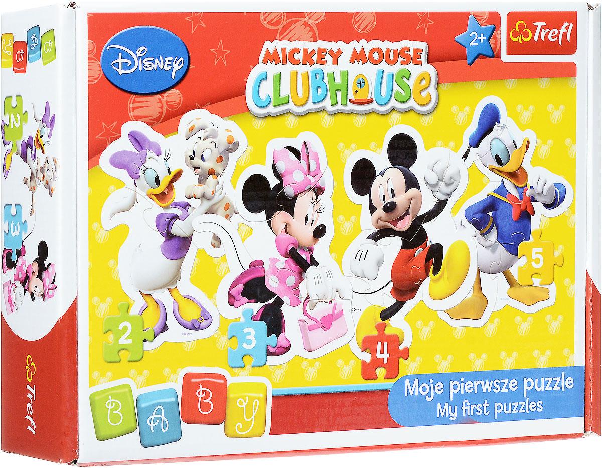 Trefl Пазл Микки Маус36060Встречайте любимца всех малышей - веселого Микки Мауса и его друзей! Пазл Trefl Микки Маус создан с любовью и аккуратностью для самых маленьких любителей логических игр. Четкие яркие цвета, безопасные материалы, крепкая сцепка и добродушные картинки привлекут внимание ребенка и заинтересуют в сборке. В подарочной коробочке вы найдете 4 пазла с изображениями героев мультфильма Микки Маус: красавицу Минни, Дональда Дака, Дейзи Дак и, конечно, главного персонажа - Микки. Усложняйте задачу с помощью увеличения количества деталей: сначала можно собрать пазл из двух фрагментов, потом из трех, четырех и, наконец, пяти. А готовые картинки можно повесить на стену, украсив комнату! Игра с пазлами развивает мелкую моторику и воображение. Толщина картона 4 мм, поэтому детали удобно держать в руке, а сборка пазлов принесет много позитива и радости!