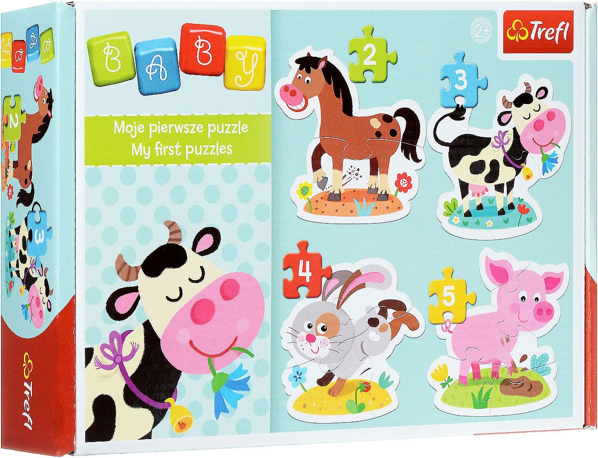 Trefl Пазл На селе36052Пазл Trefl На селе создан с любовью и аккуратностью для самых маленьких любителей логических игр. Четкие яркие цвета, безопасные материалы, крепкая сцепка и добродушные картинки привлекут внимание ребенка и заинтересуют в сборке. С помощью этого набора вы можете собрать с малышом улыбчивую лошадку, довольно жующую траву корову, прыгающего зайца и хулиганистого поросенка. Малыш научиться узнавать этих животных, а помимо изучения окружающего мира сборка пазла развивает мелкую моторику и логические навыки. В разноцветной коробке вы обнаружите несколько контурных пазлов, которые делятся на 2, 3, 4 и 5 блоков. Усложняйте задачу с помощью увеличения количества деталей: сначала можно собрать пазл из двух фрагментов, потом из трех, четырех и, наконец, пяти. А готовые картинки можно повесить на стену, украсив комнату! Игра с пазлами развивает мелкую моторику и воображение. Толщина картона 4 мм, поэтому детали удобно держать в руке, а сборка пазлов принесет много...