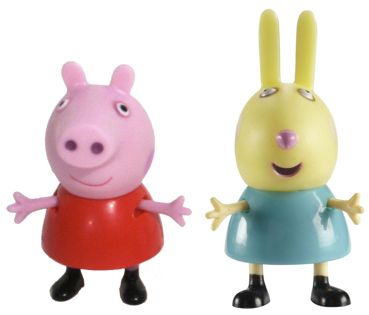 Peppa Pig Набор фигурок Пеппа и Ребекка28815С набором фигурок Пеппа и Ребекка любимый мультфильм оживет прямо у вас дома, а малыш станет участником веселых приключений Пеппы и ее друзей. Набор включает в себя фигурки Пеппы и Ребекки, которые умеют шевелить ручками и ножками. Игрушки выполнены из безопасного для детского здоровья пластика и раскрашены нетоксичными красками. Такой набор вызовет массу положительных эмоций у ребенка и позволит придумать массу увлекательных сюжетов для игр!