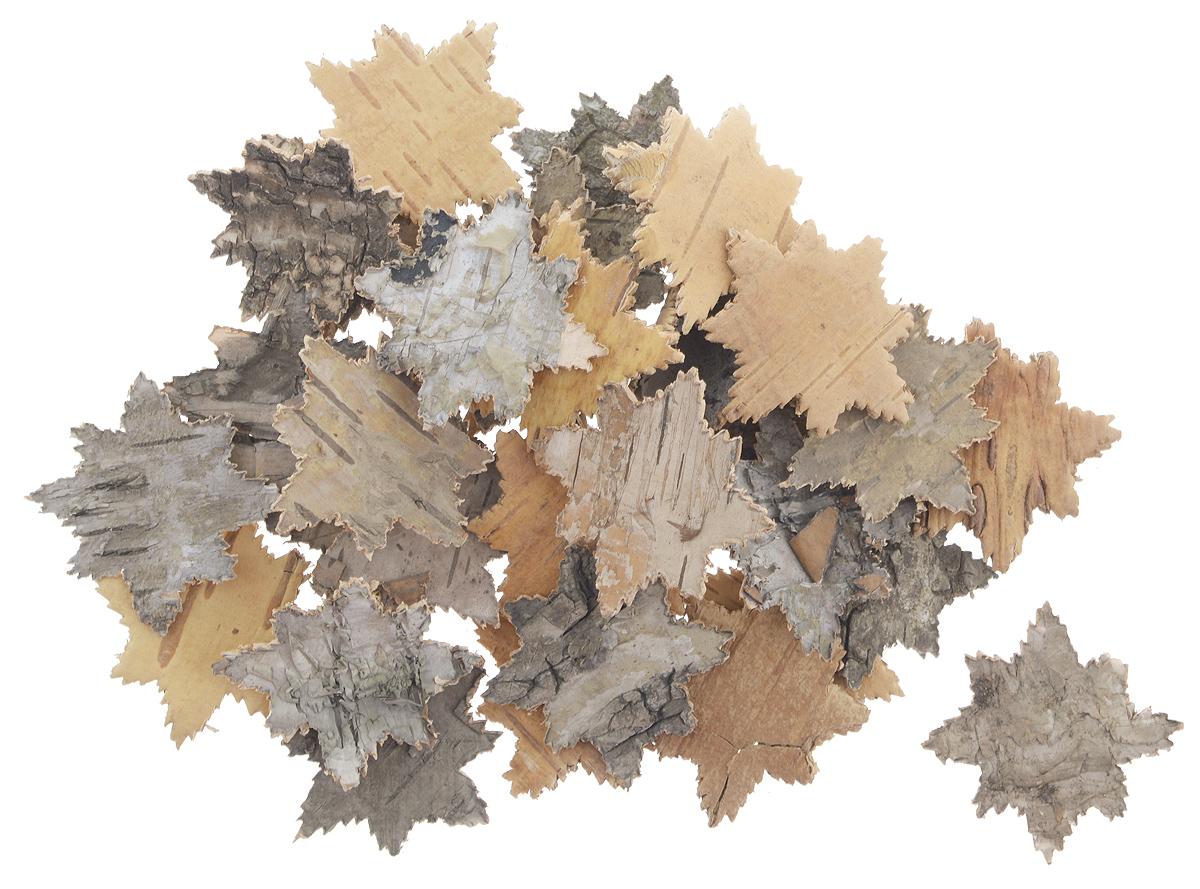Декоративный элемент Dongjiang Art Снежинка, цвет: натуральное дерево, 30 шт7709003_нат/деревоДекоративный элемент Dongjiang Art Снежинка, изготовленный из натуральной коры дерева, предназначен для украшения цветочных композиций. Изделие можно также использовать в технике скрапбукинг и многом другом. Флористика - вид декоративно-прикладного искусства, который использует живые, засушенные или консервированные природные материалы для создания флористических работ. Это целый мир, в котором есть место и строгому математическому расчету, и вдохновению. Размеры одного элемента: 3,5 см х 3,5 см.