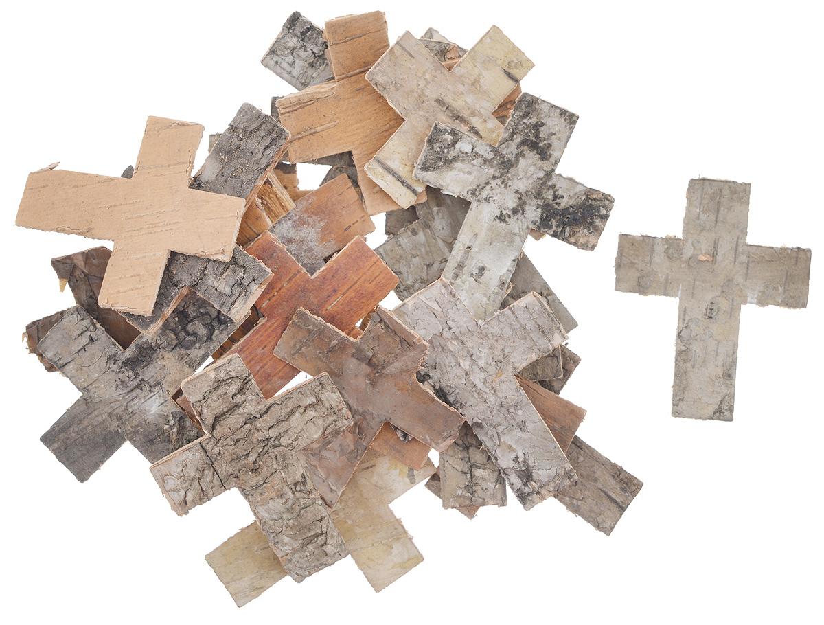 Декоративный элемент Dongjiang Art Крест, цвет: натуральное дерево, 25 шт7709020_нат/деревоДекоративный элемент Dongjiang Art Крест, изготовленный из натуральной коры дерева, предназначен для украшения цветочных композиций. Изделие можно также использовать в технике скрапбукинг и многом другом. Флористика - вид декоративно-прикладного искусства, который использует живые, засушенные или консервированные природные материалы для создания флористических работ. Это целый мир, в котором есть место и строгому математическому расчету, и вдохновению. Размер одного элемента: 5 см х 6 см.