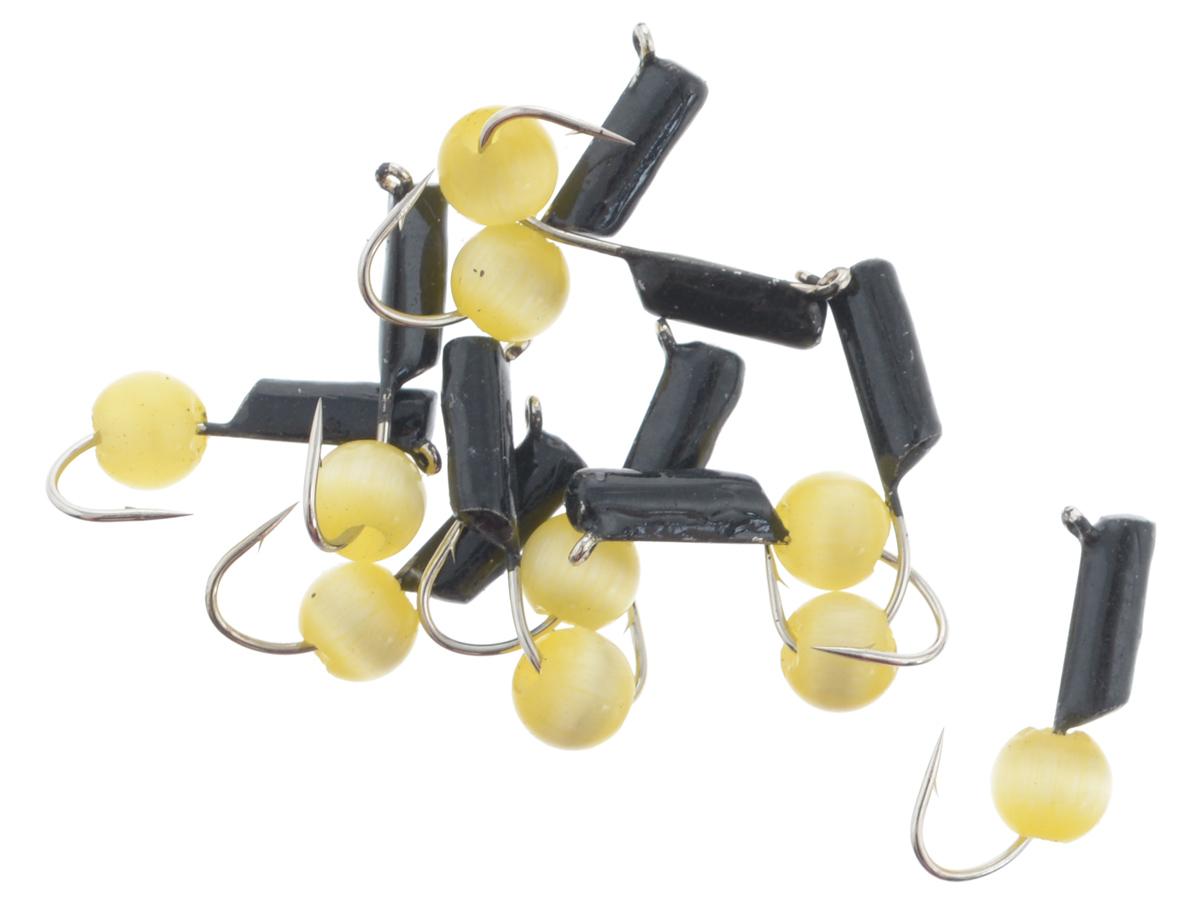 Мормышка вольфрамовая True Weight Кошачий глаз, подвес, цвет: желтый, диаметр 2 мм, 10 шт49635Безнасадочная мормышка True Weight Кошачий глаз изготовлена из вольфрама и оснащена крючком. Главное достоинство вольфрамовой мормышки - большой вес при малом объеме. Эта особенность дает большие преимущества при ловле, так как позволяет быстро погрузить приманку на требуемую глубину и лучше чувствовать игру мормышки. Диаметр мормышки: 2 мм.