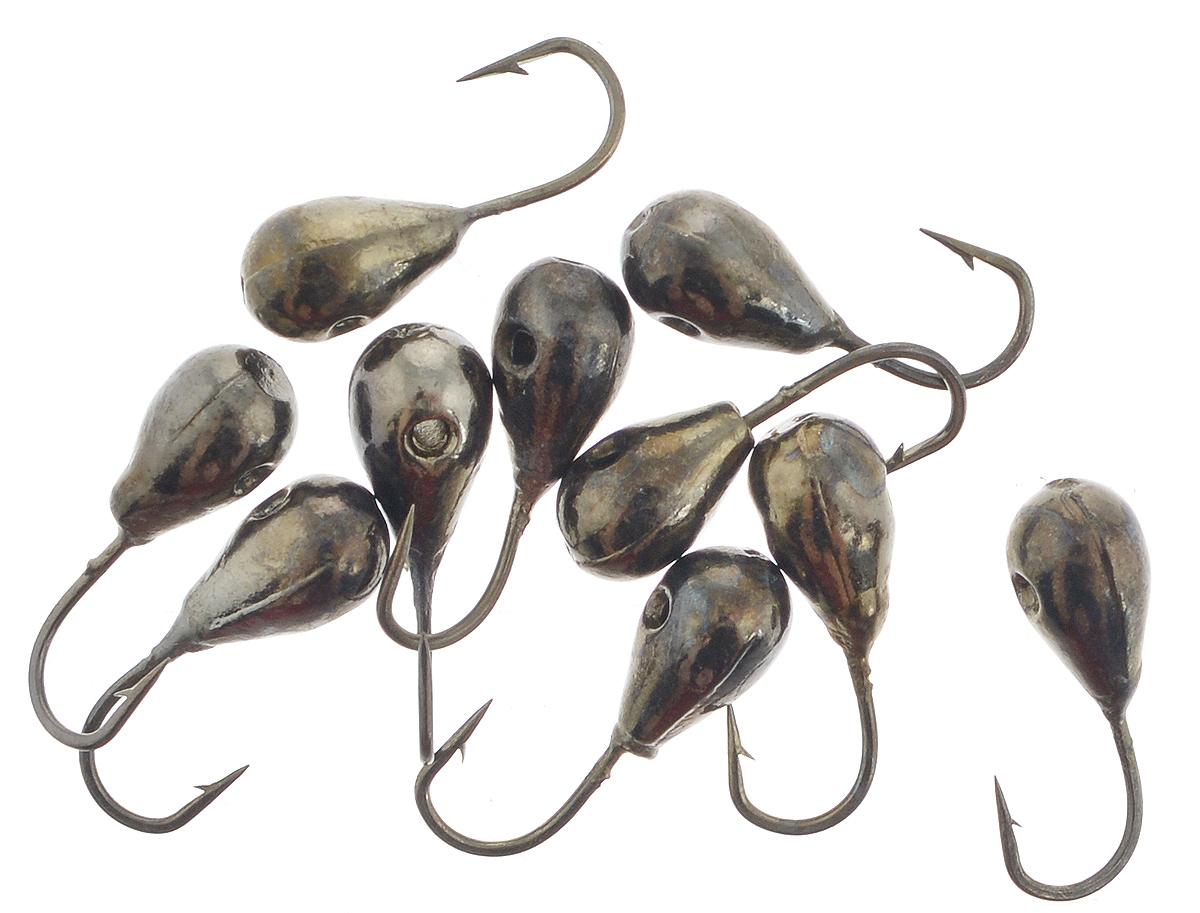 Мормышка вольфрамовая Dixxon-Russia, капля с отверстием, цвет: черный никель, диаметр 3 мм, 0,35 г, 10 шт13015Мормышка Dixxon-Russia изготовлена из вольфрама и оснащена крючком. Главное достоинство вольфрамовой мормышки - большой вес при малом объеме. Эта особенность дает большие преимущества при ловле, так как позволяет быстро погрузить приманку на требуемую глубину и лучше чувствовать игру мормышки. Диаметр мормышки: 3 мм.