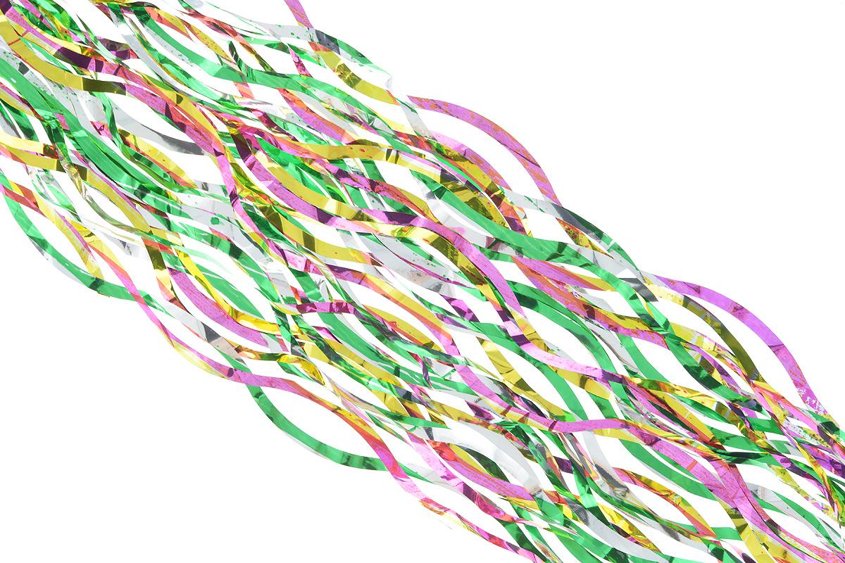 Дождик новогодний Sima-land, цвет: зеленый, желтый, сиреневый, 9 см х 150 см. 701545701545_зеленый, желтый, сиреневыйНовогодний дождик Sima-land, изготовленный из разноцветной фольги, поможет вам украсить свой дом к предстоящим праздникам. Новогодняя елка с таким украшением станет еще наряднее. Новогодним дождиком можно украсить все, что угодно - елку, квартиру, дачу, офис - как внутри, так и снаружи. Можно сложить новогодние поздравления, буквы и цифры, дождиком можно украсить и дополнить гирлянды, можно выделить дверные колонны, оплести дверные проемы. Коллекция декоративных украшений из серии Зимнее волшебство принесет в ваш дом ни с чем несравнимое ощущение праздника! Создайте в своем доме атмосферу тепла, веселья и радости, украшая его всей семьей. Ширина: 9 см.
