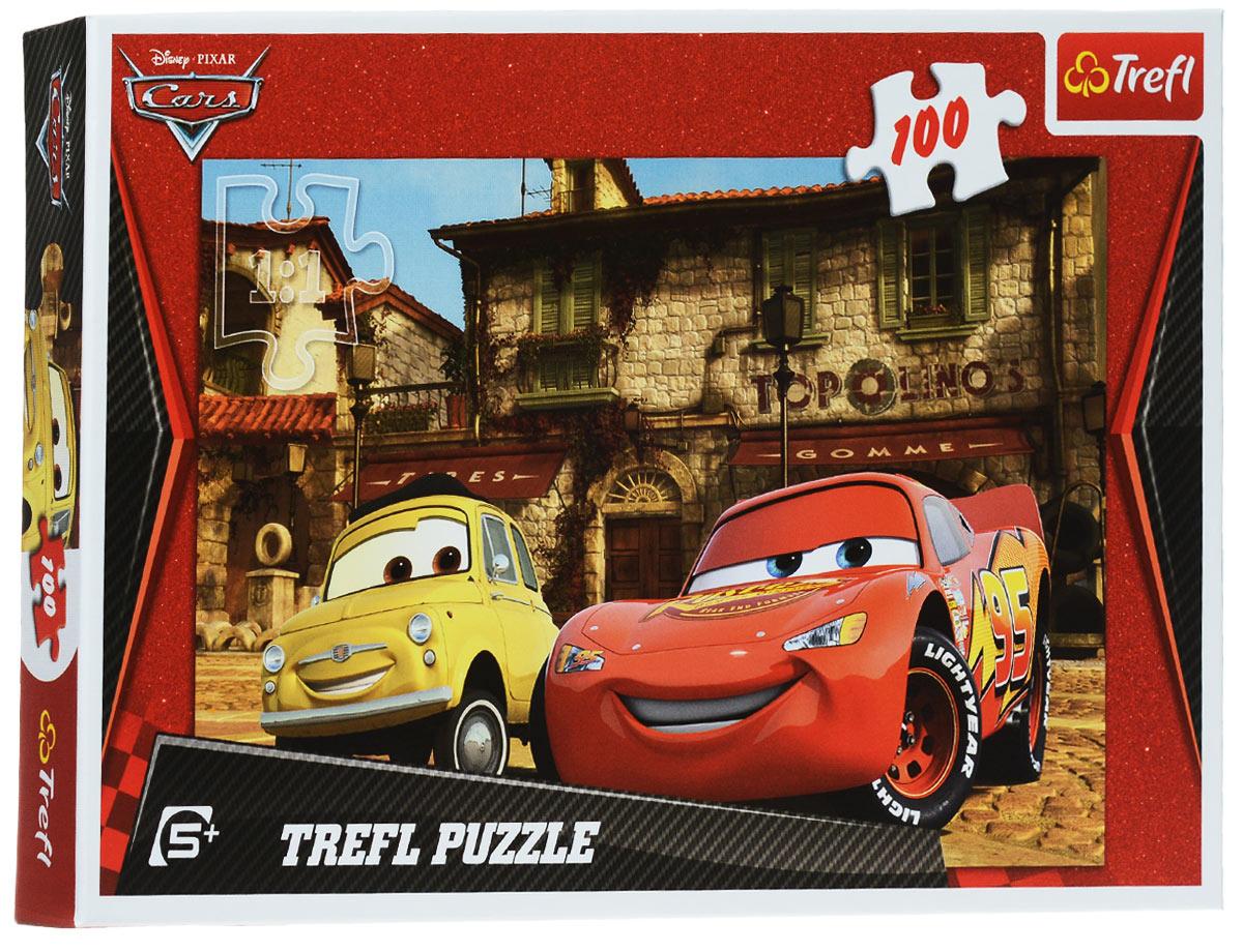 Trefl Пазл Лучшие друзья16160Герои знаменитого мультфильма Тачки - суперзвезда Молния Маккуин и владелец шинного магазинчика Луиджи - отдыхают в Радиатор- Спрингс. Чудесный яркий и цветной пазл Лучшие друзья от известного бренда Trefl - это отличный подарок для мальчика старше 5 лет, который увлекается автомобилями. Собирайте пазл, развивайте свою внимательность и терпение и наслаждайтесь игрой. Пазлы Trefl выполнены из качественного материала с увеличенной степенью гладкости, что делает игровой процесс и полученное изображение по-настоящему великолепным.