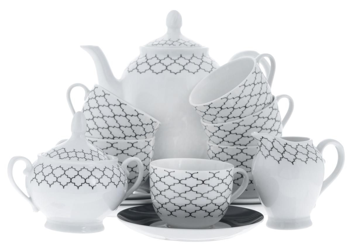 Сервиз чайный Bekker Koch, 15 предметов. BK-7145BK-7145Сервиз чайный Bekker Koch состоит из шести чашек, шести блюдец, заварочного чайника, молочника и сахарницы, изготовленных из фарфора. Предметы набора оформлены красочным изображением. Изящный дизайн придется по вкусу и ценителям классики, и тем, кто предпочитает утонченность и изысканность. Он настроит на позитивный лад и подарит хорошее настроение с самого утра. Сервиз чайный - идеальный и необходимый подарок для вашего дома и для ваших друзей в праздники, юбилеи и торжества! Он также станет отличным подарком и украшением любой кухни. Можно мыть в посудомоечной машине. Объем чашек: 220 мл. Диаметр чашек (по верхнему краю): 8,5 см. Высота чашек: 6,5 см. Диаметр блюдец (по верхнему краю): 15,4 см. Высота блюдец: 2 см. Объем сахарницы: 280 мл. Высота сахарницы (с учетом крышки): 13 см. Диаметр сахарницы (по верхнему краю): 8 см. Объем чайника: 1,1 л. Высота чайника (с учетом крышки): 23 см. ...