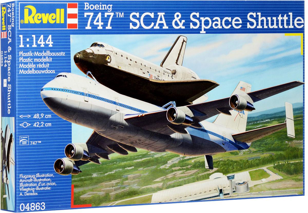 Revell Сборная модель Самолет Boeing 747 SCA и космический корабль Space Shuttle04863RСборная модель Revell Самолет Boeing 747 SCA и космический корабль Space Shuttle поможет вам и вашему ребенку придумать увлекательное занятие на долгое время. Набор включает в себя 119 пластиковых элементов, из которых можно собрать достоверную уменьшенную копию одноименного самолета и космического корабля. Первый полет SCA 905 (переделанный Боинг 747-123) с шаттлом Enterprise прошел в 1977 году. В течение пяти испытательных полетов космический челнок отстыковывался от SCA 905, чтобы проверить летные и посадочные характеристики орбитального аппарата. Испытания завершились успешно. К концу программы Space Shuttle НАСА провело более 220 рабочих запусков SCA 905 с шаттлами. 17 марта 2012 SCA 905 с шаттлом Discovery приземлился в последний раз в международном аэропорту Далласа и занял место в постоянной экспозиции в Национальном музее авиации и космонавтики в Вашингтоне. В комплект также входит лист с наклейками и схематичная инструкция. Уровень сложности: 5. ...