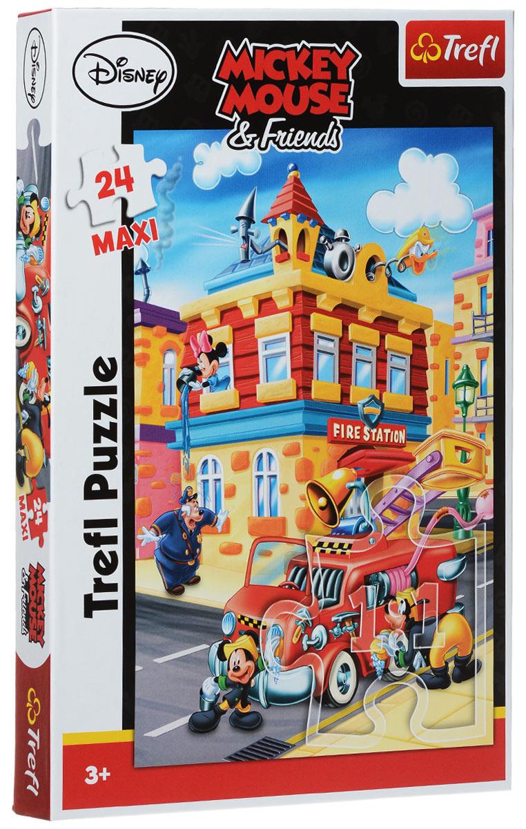 Trefl Пазл Пожарная охрана14083Пазл Trefl Пожарная охрана - это новая игрушка от известного польского бренда Trefl, предназначенная для мальчиков и девочек старше 3 лет. Из 24 больших деталей собирается красочная картинка с изображением знаменитого мышонка студии Дисней Микки-Мауса и Гуффи с пожарной машиной. Для производства пазла использована бумага со специальным светоотражающим покрытием, которое делает игру с мозаикой удобной при любом освещении. Игрушка изготовлена в соответствии с европейскими стандартами качества, из безопасных и экологически чистых материалов. Размер готового пазла: 40 см х 60 см.